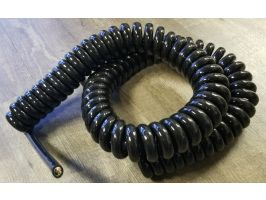 Power Coiled Cord | 12 Gauge with 4 Conductors | No Shield