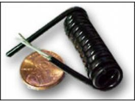Electronic Coiled Cord | 30 Gauge with 1 Conductors | Mini Coax