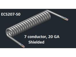 Electronic Coiled Cord | 20 Gauge with 7 Conductors | Shielded